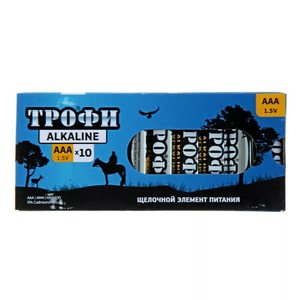 Батарейка алкалиновая ААА LR03 ТРОФИ