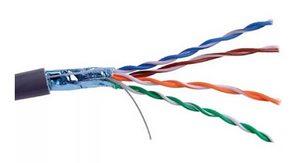 Кабель (витая пара) Proconnect FTP4-CAT5e (24 AWG) омедненный, серый