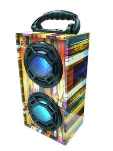 Портативная акустика MP3 KS-606-1 (TF,USB,2-5W,FM,встроенный + аккум.BL-5С)