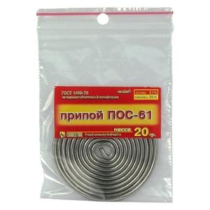 Припой ПОС-61 20гр с канифолью Connector