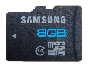 Карта памяти 8Gb Samsung micro SD (без адаптера) Class10