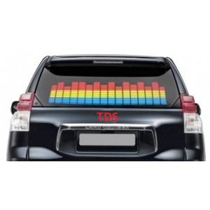Эквалайзер на стекло авто Э-002 90см*25см (бел-син-крас)