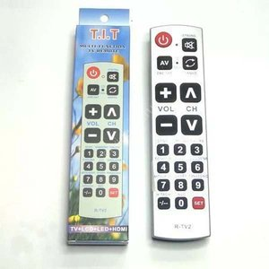 Пульт Д/у универ. RTV-02 (TV+ LCD+LED+HDMI, большие кнопки, инструкция на русском языке)