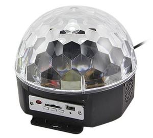 Диско шар с MP3 MP-381 (USB, SD, пульт ДУ, 2*3 Вт, датчик звука)