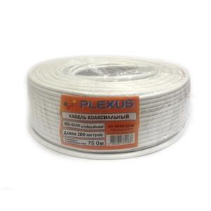 Кабель PLEXUS RG-6 Professional  Медь 64% белый, 75 Ом.