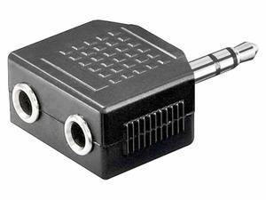 Переходник шт. 3.5 мм - 2 гн. 3.5 мм стерео  Ni/Pl