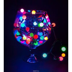 Гирлянда-шарики 18062С, 40LED, 6 метров, многоцветная, с контроллером удлиняемая