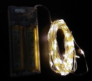 Гирлянда LED Огонек LD-153 (5м, белая) на батарейках.