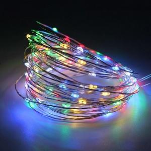 Гирлянда LED Огонек LD-154 (5м, цветная) на батарейках.
