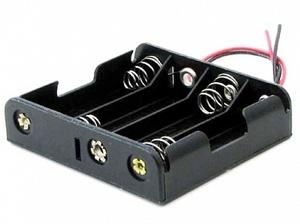 Бокс для батареек AA 4x1 провод 150 мм