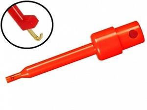 Щуп - зажим крючок 57 мм -красный-