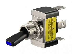 Тумблер M12 OFF-ON ASW-07D-2 LED12V 30A/12V 3c -синий-