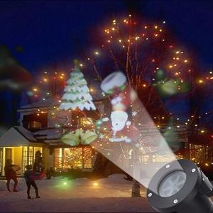 Проектор новогодний, светодиодный, уличный, сменные картриджи 2шт.