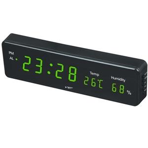 Часы эл. VST805S-4 зел.цифры (температура, влажность)