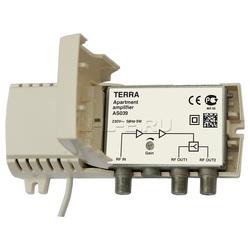 Усилитель телевизионный Terra AS039 1-69к. 20дБ,100дБмВ на 2 выхода