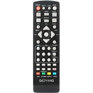 Пульт ДУ для ресивера D-color DC 711HD (TVjet RE 820HDT2, Goldstar GS 8833HD) DVB-T2