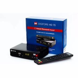 DVB-T2 ресивер DIGIFORS HD70 (Дисплей, метал. корпус, кнопки на перед. панели)