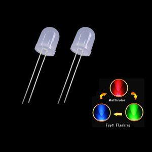 Светодиод  5мм, 3V Красно - синий мигающий плавно
