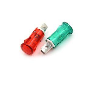 Индикатор  7.2 мм RWE-101 neon 220V -красный-