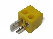 Штекер для акустики 2 PIN DIN винт -желтый-