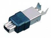 Штекер IEEE1394 под пайку, 4 конт.