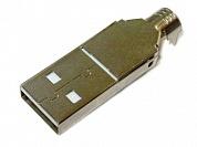 Штекер USB-A-CP на кабель б/к  Ni