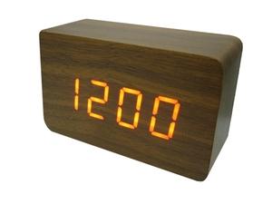 Часы эл. VST863-1 крас.цифры (ТЕМНО-коричневый)