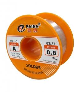 Припой-катушка KAINA A-0,8мм (SOLDER CF-10)