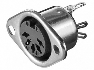 Гнездо DIN 5-pin (45 гр.) на корпус