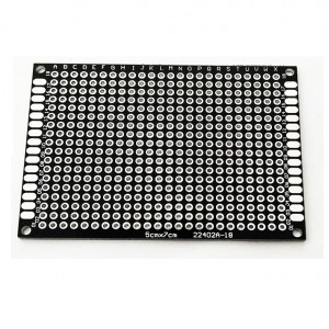 Двусторонняя макетная плата 7х9 см, черная