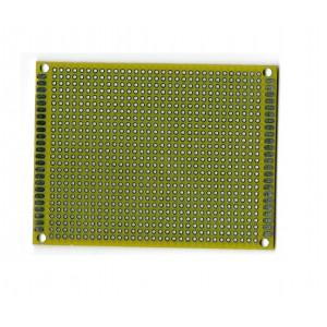 Двусторонняя макетная плата 7х9 см, жёлтая