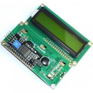 Символьный дисплей 1602 + I2C конвертер (распаян) - зеленый