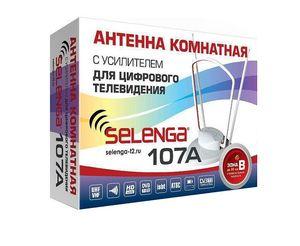 Антенна комнатная с усилителем SELENGA 107A для цифрового ТВ
