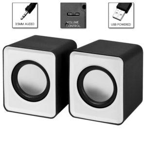 Колонки мультимедийные SmartBuy MINI, мощность 4Вт, USB, серые (SBA-2810)/80