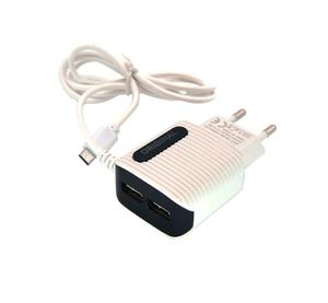 Зарядное устройство с USB BS-2084 (5B, 2100mA, microUSB 1м)