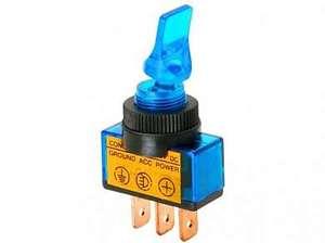 Тумблер M12 OFF-ON RWC-405 lamp12V 20A/12V 3c -синий-