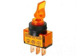 Тумблер M12 OFF-ON RWC-405 lamp12V 20A/12V 3c -желтый-