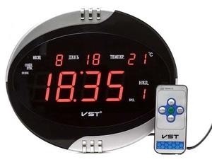Часы эл. VST770Т-1 крас.цифры+блок+пульт