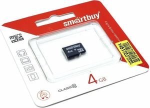 Smart Buy micro SDHC 4GB Class10 (без адаптеров)