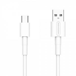 Кабель USB 5А SENDEM M66 Белый (TYPE C) 1м