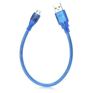 Переходник USB BS-421 прозрачный (штекер USB - штекер microUSB) 40см/10