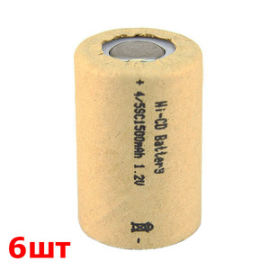 Аккумулятор 4/5SC (1.2V, 1500mAh)(УПАКОВКА 6шт)