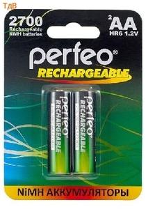 Аккумулятор PERFEO 2700 mhAA-2 BL2