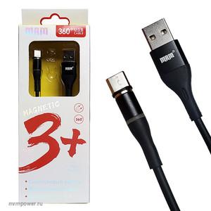 Кабель USB MR-360t Type-C силиконовый (МАГНИТНЫЙ 360 градусов) 1m