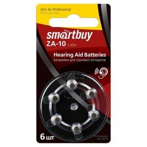 Элемент питания Smartbuy ZA10-6BL (SBZA-A10-6B) (для слуховых аппаратов) (60/3000)