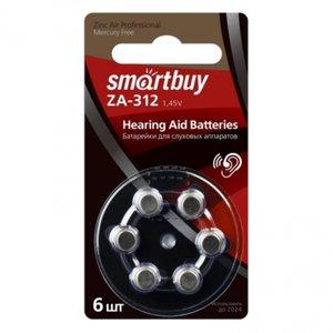 Элемент питания Smartbuy ZA312-6BL (SBZA-A312-6B) (для слуховых аппаратов) (60/3000)