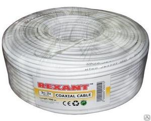 """Кабель коаксиальный  3C2V Fe/Al 0.5/0.12*32 100м """"Rexant"""""""