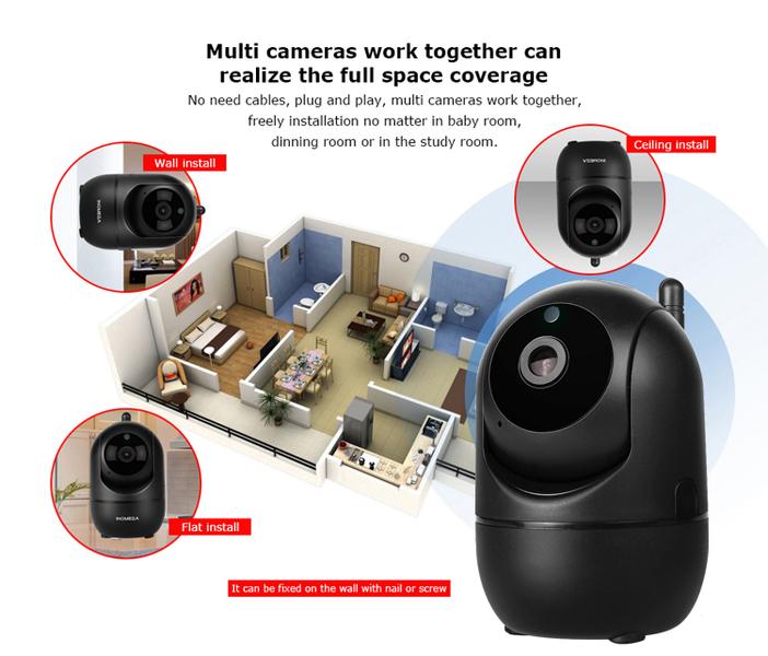 OT-VNI20(С291) Черная видеокамера IP-WI-FI