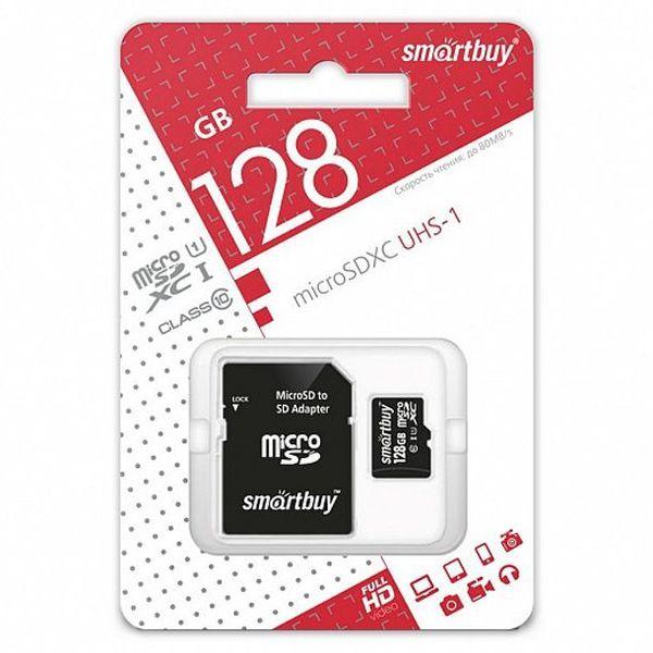 Smart Buy micro SDXC 128GB  Class10 UHS-I (с адаптером SD)