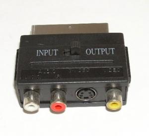 Переходник SCART-3RCA+S-VHS (с переключателем)